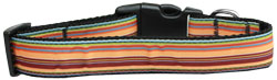 Autumn Stripes Nylon Dog Collar